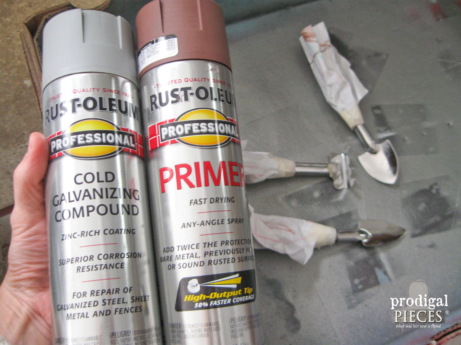 Rustoleum Professional Primer and Cold Galvanizing Compound | Prodigal Pieces | www.prodigalpieces.com