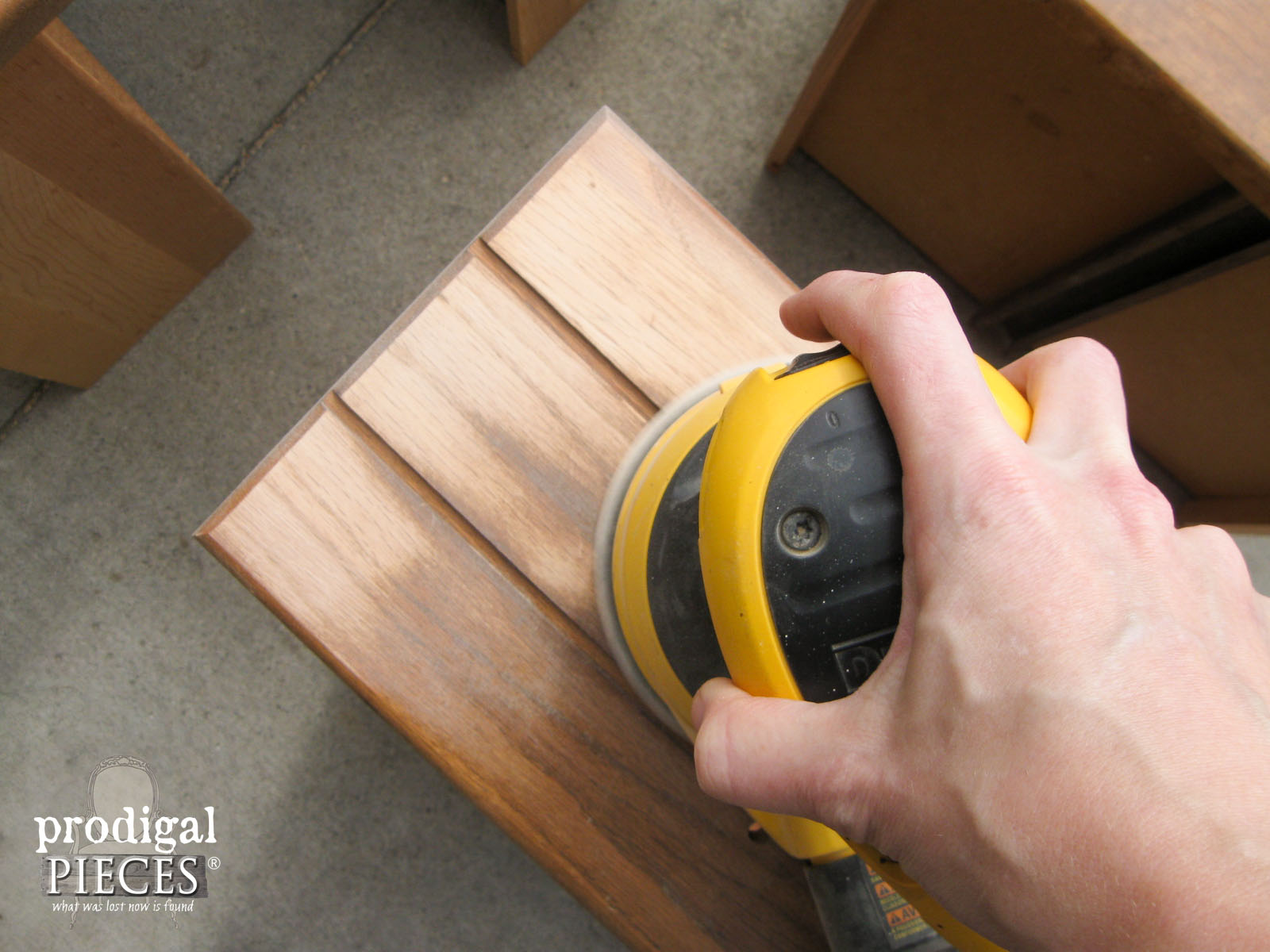 Sanding Dresser Drawer Fronts | Prodigal Pieces | www.prodigalpieces.com
