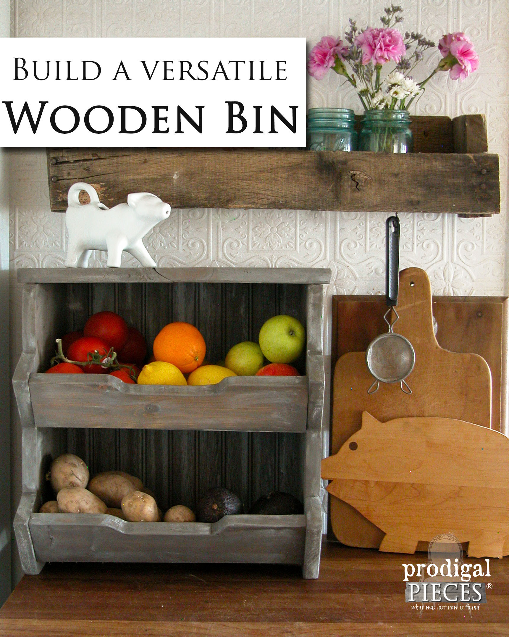 Easy Step-by Step Plans to Build Your Own Wooden Storage Bin by Prodigal Pieces | prodigalpieces.com