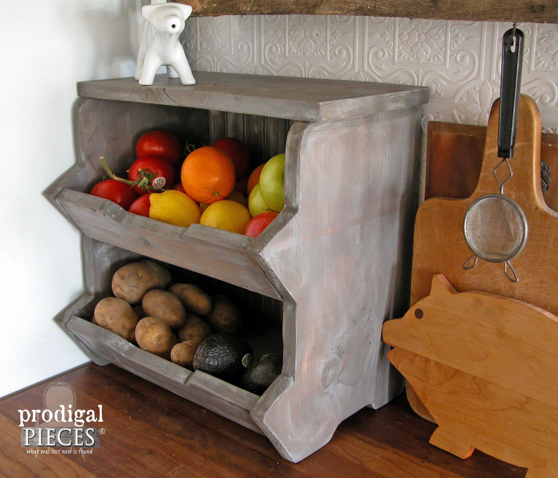 Rustic Storage Bin Plans with Step-by-Step Tutorial by Prodigal Pieces | www.prodigalpieces.com