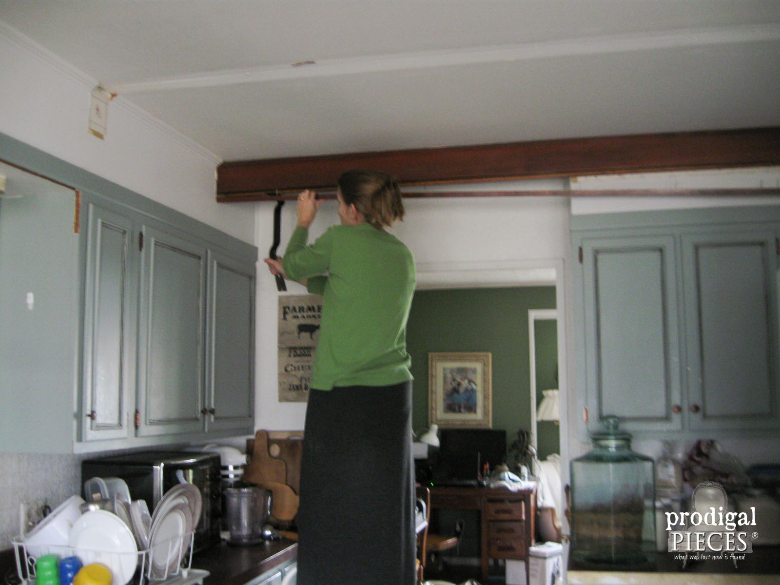 Removing Faux Barn Beams in Kitchen | Prodigal Pieces | www.prodigalpieces.com