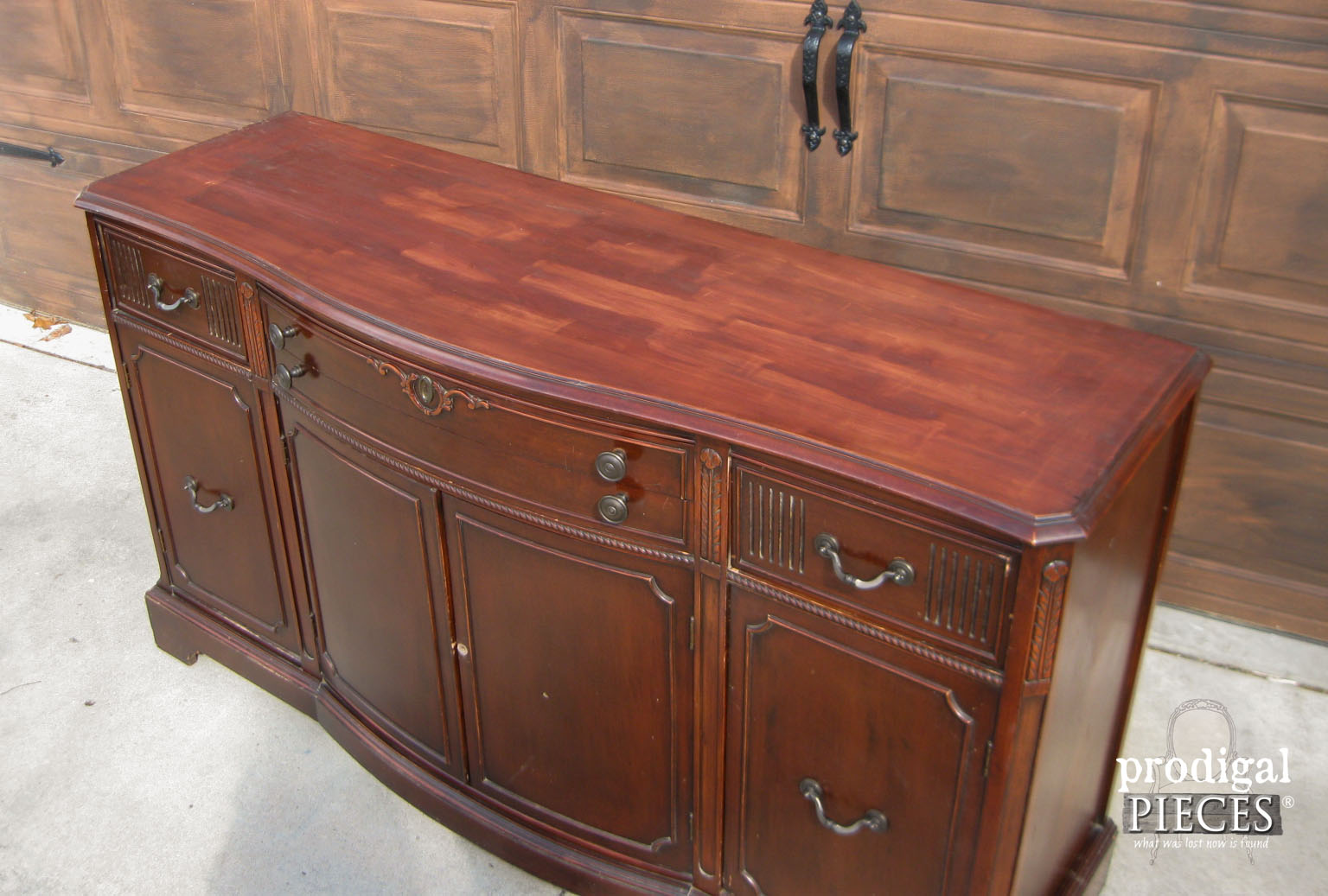 Damaged Top of Vintage Buffet | Prodigal Pieces | www.prodigalpieces.com