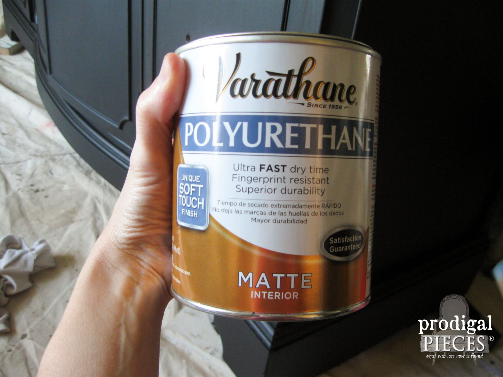 Varathane Matte Polyurethane by Rustoleum for Buffet | Prodigal Pieces | www.prodidgalpieces.com
