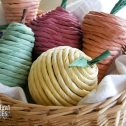 Basket of Natural Cat Toys with Tutorial by Prodigal Pieces | www.prodigalpieces.com