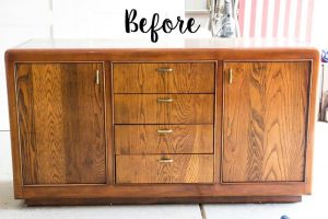 Vintage Credenza Makeover by Bless'er House