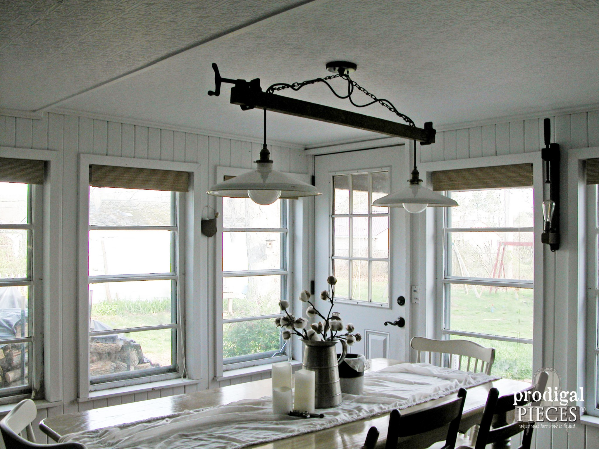 Reclaimed and Repurposed Farmhouse Lighting by Prodigal Pieces | www.prodigalpieces.com