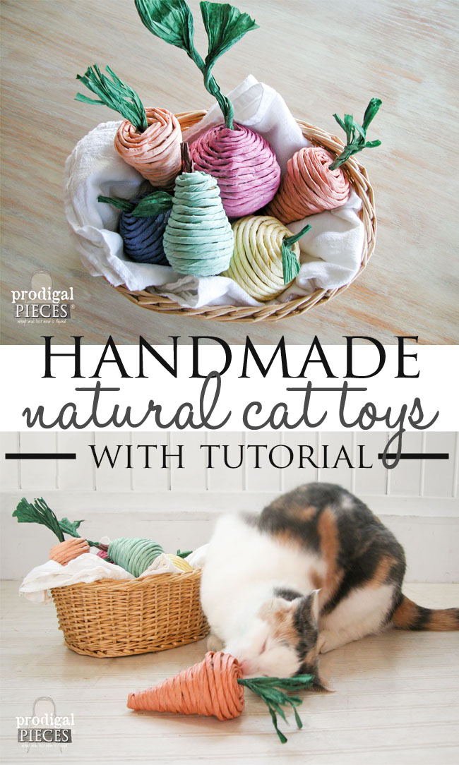 How to Make Natural Catnip Cat Toys with Tutorial by Prodigal Pieces | prodigalpieces.com