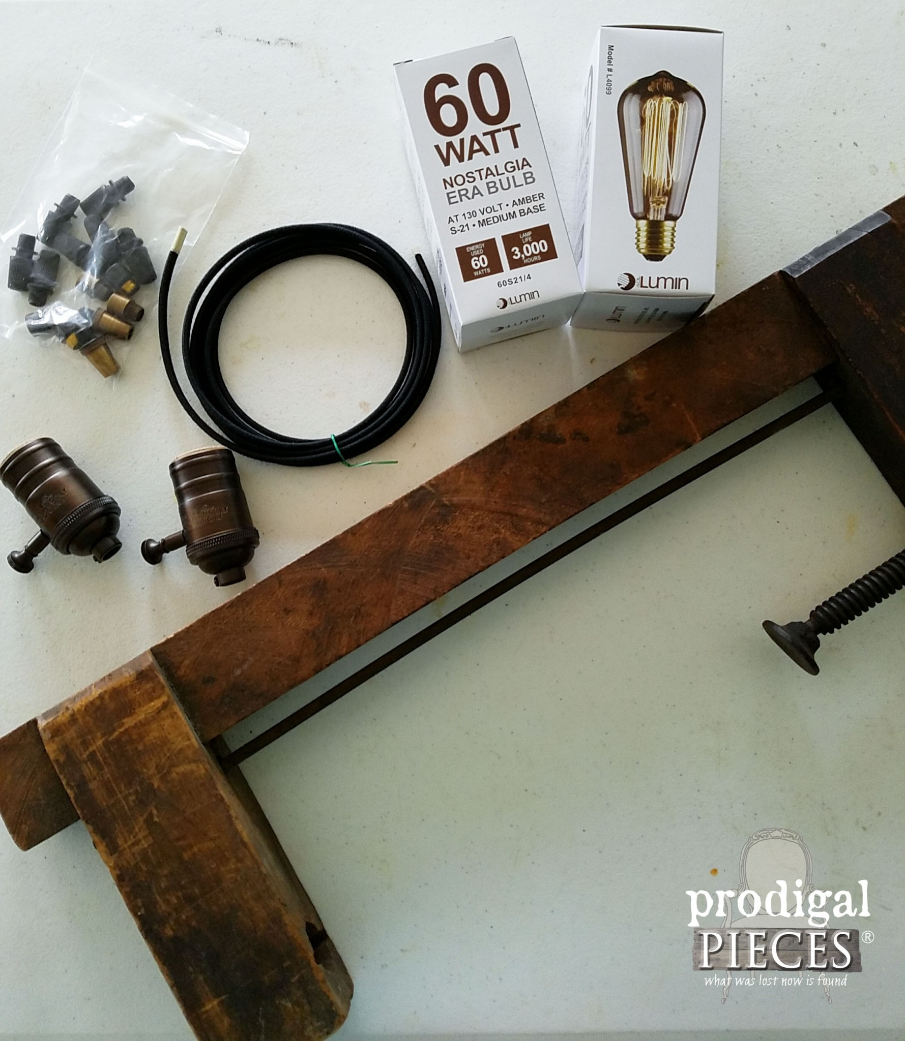 Rustic Farmhouse Lighting Supplies to DIY | Prodigal Pieces | www.prodigalpieces.com