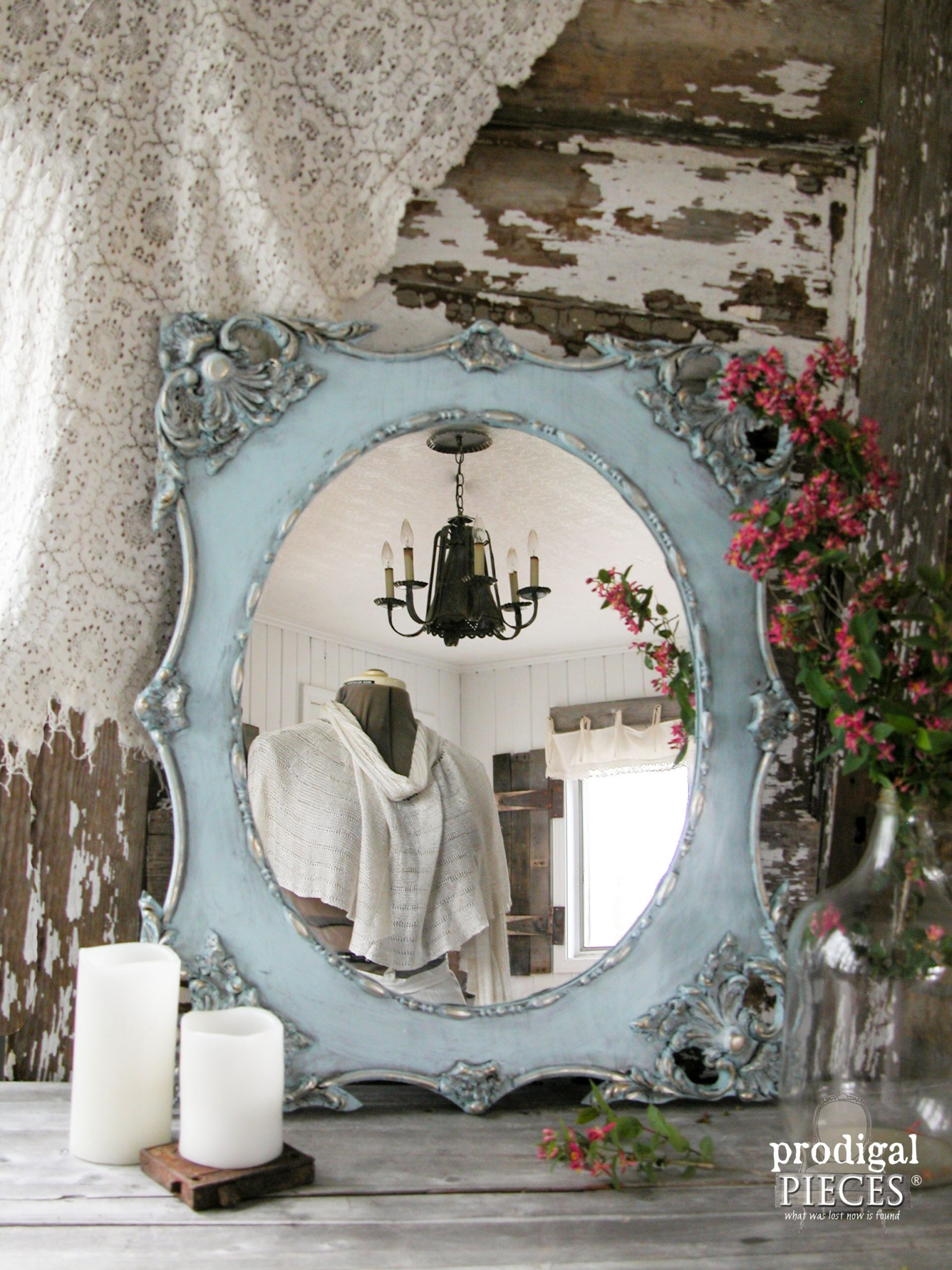 Ornate Vintage Mirror with Aged Finish Tutorial by Prodigal Pieces | www.prodigalpieces.com