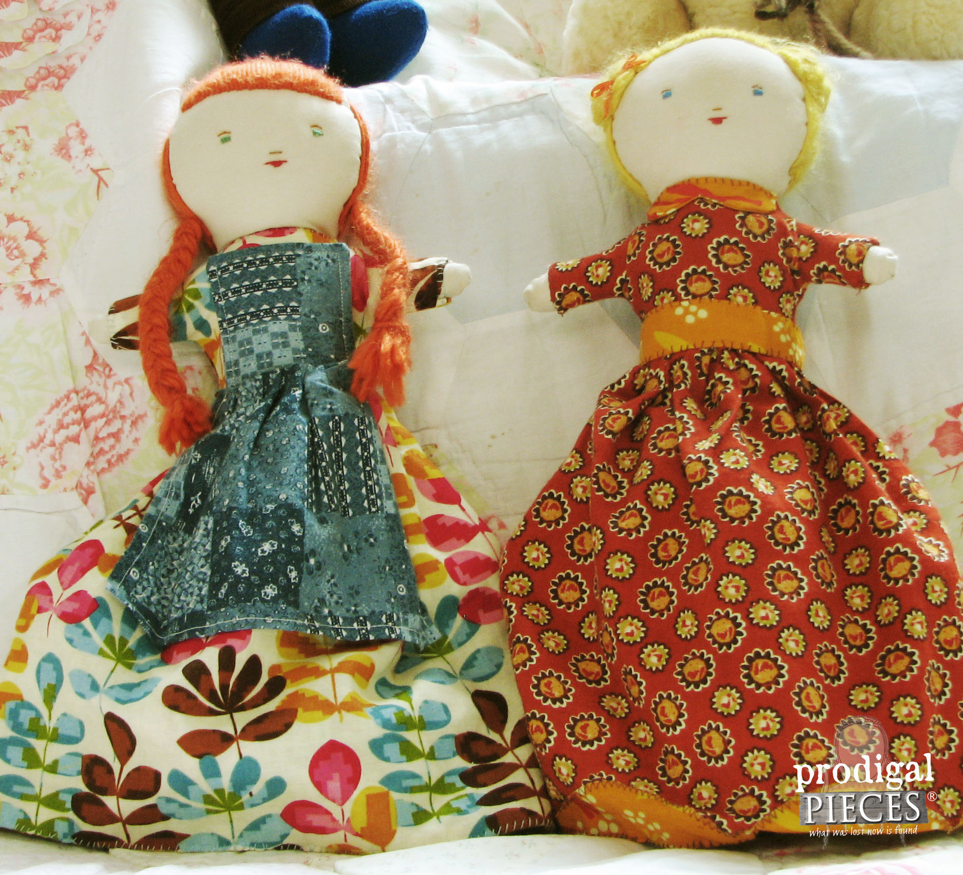 Pair of Handmade Topsy Turvy Dolls by Prodigal Pieces | www.prodigalpieces.com