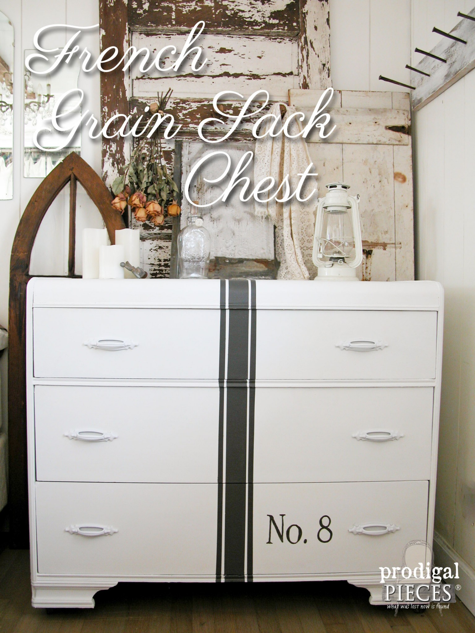 French Grain Sack Chest of Drawers by Prodigal Pieces | prodigalpieces.com