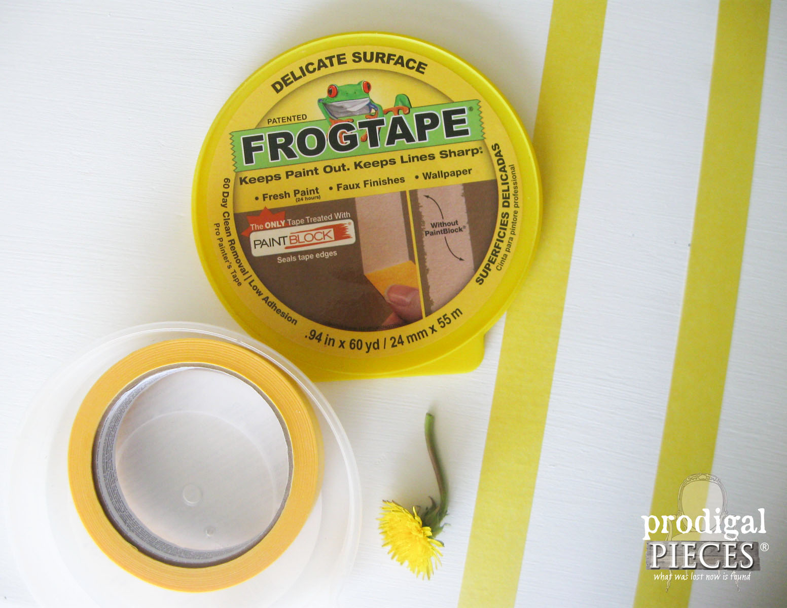 Using Frog Tape for French Grain Sack Effect | Prodigal Pieces | www.prodigalpieces.com