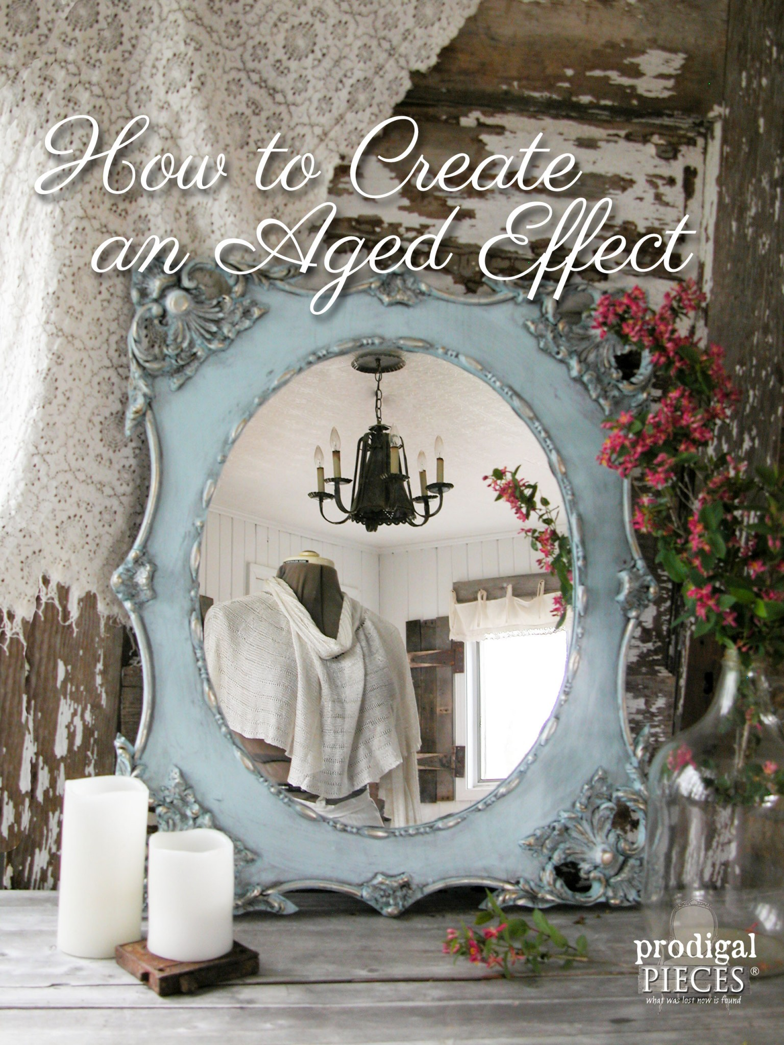 How to Create an Aged Finish Using Paint by Prodigal Pieces | www.prodigalpieces.com