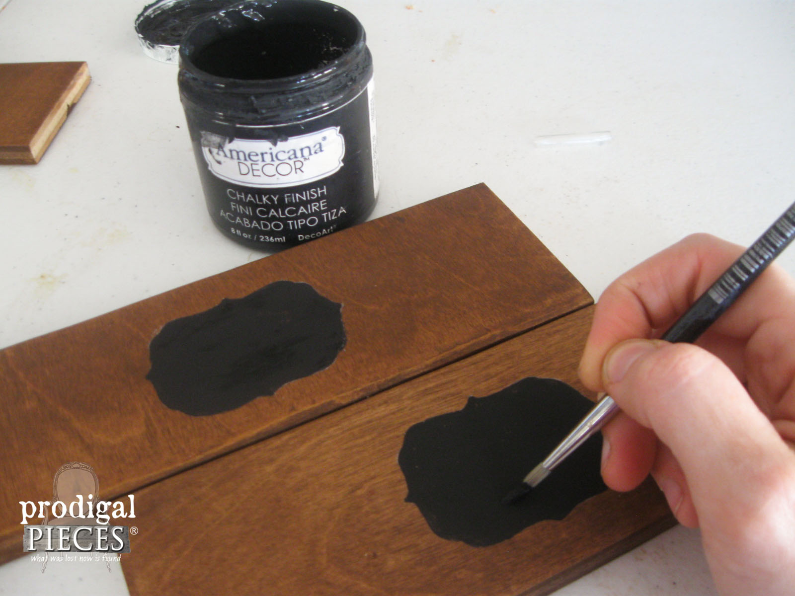 DecoArt Chalky Finish Paint for Faux Chalkboard Labels by Prodigal Pieces | www.prodigalpieces.com
