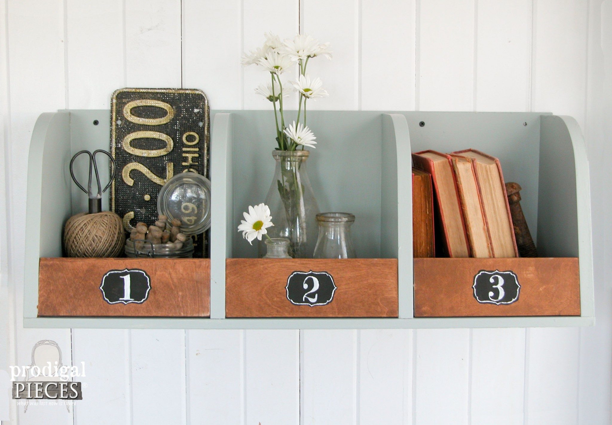 Repurposed Storage Bins Made from Kitchen Shelf by Prodigal Pieces | www.prodigalpieces.com