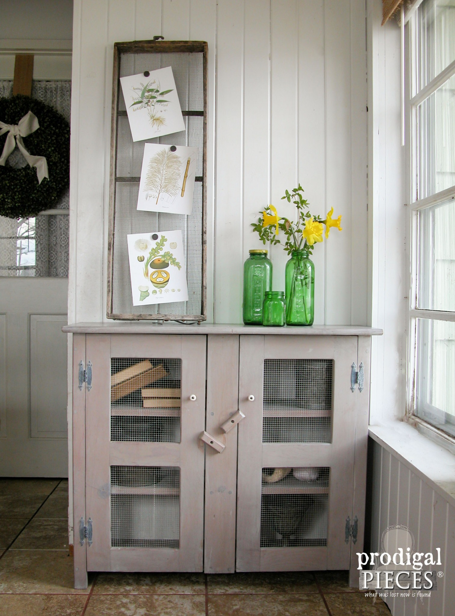 Sunbleached Primitive Cupboard Redone by Prodigal Pieces | prodigalpieces.com