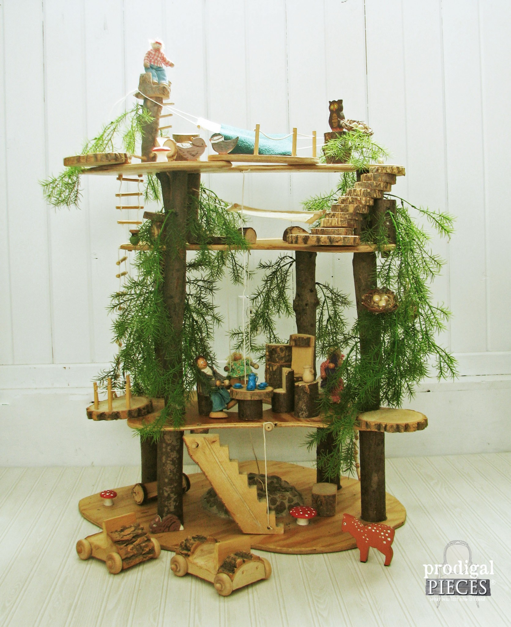 Handmade Wooden Toy Tree Fort by Prodigal Pieces | www.prodigalpieces.com