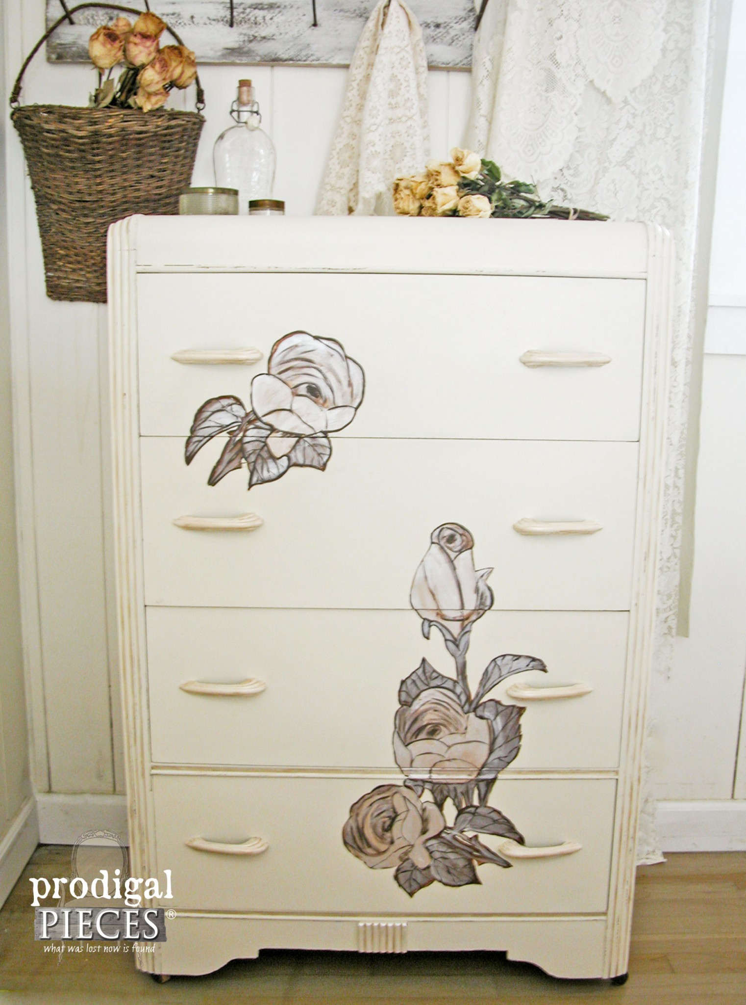 Shabby Chic Art Deco Chest of Drawers by Prodigal Pieces | www.prodigalpieces.com