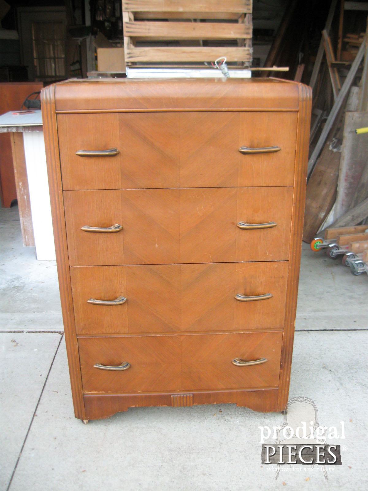 Art Deco Chest of Drawers Before Shabby Chic Details | Prodigal Pieces | www.prodigalpieces.com