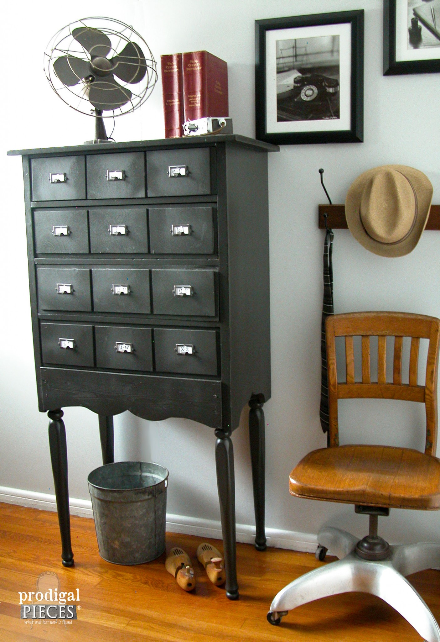 Faux Card Catalog from Child's Chest by Prodigal Pieces | www.prodigalpieces