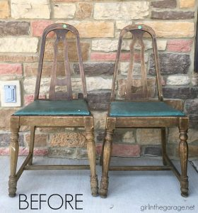 Vintage Chair Makeover by Girl in the Garage via Prodigal Pieces