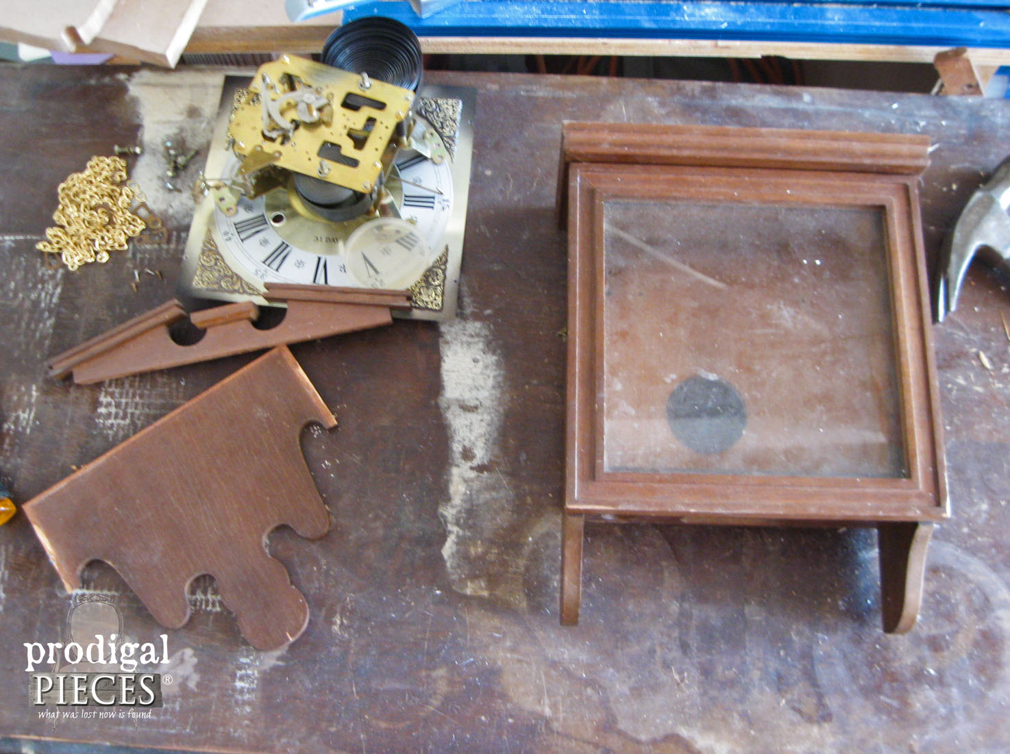 Gutted Vintage Clock for Repurposed Swiss Medical Kit | Prodigal Pieces | www.prodigalpieces.com