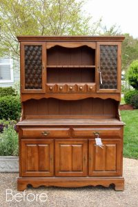 Vintage Hutch Makeover by Confessions of a Serial DIYer via Prodigal Pieces
