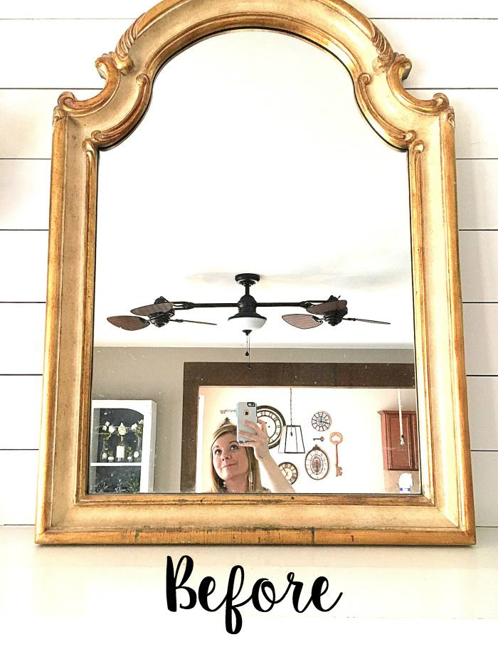 Mirror Makeover by Bless'er House via Prodigal Pieces