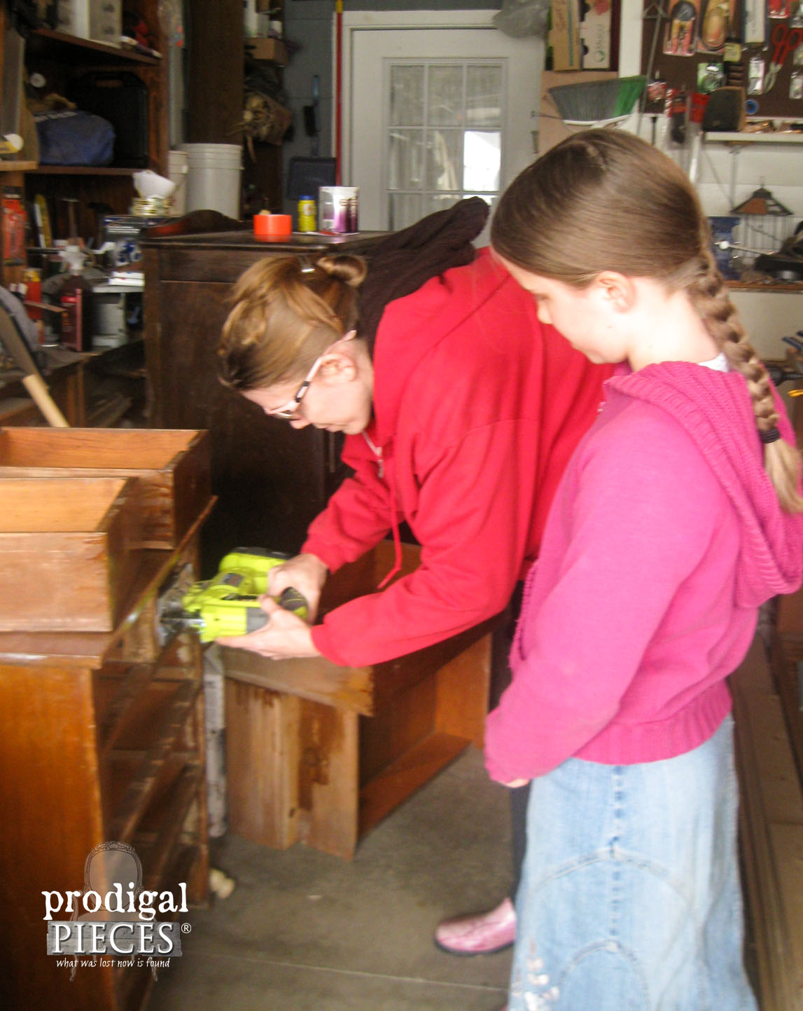 Cutting Child's Dresser with Ryobi Jigsaw | Prodigal Pieces | www.prodigalpieces.com
