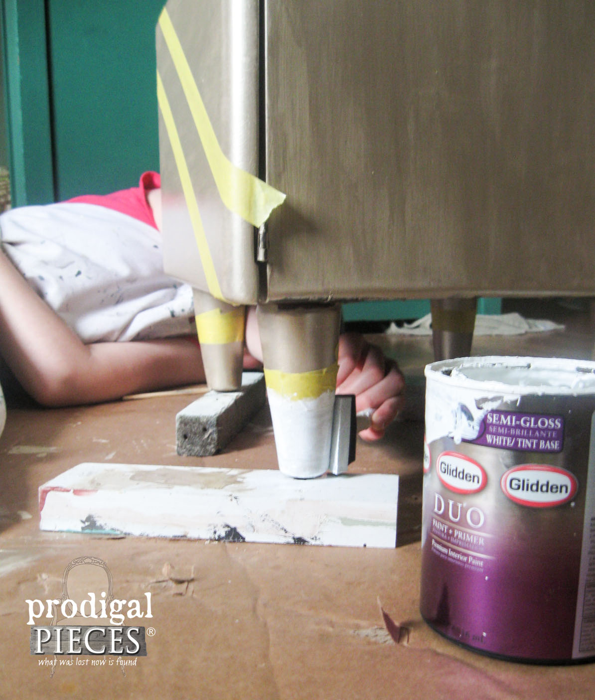 Adding Dipped Legs to Art Deco Nightstand | Prodigal Pieces | www.prodigalpieces.com