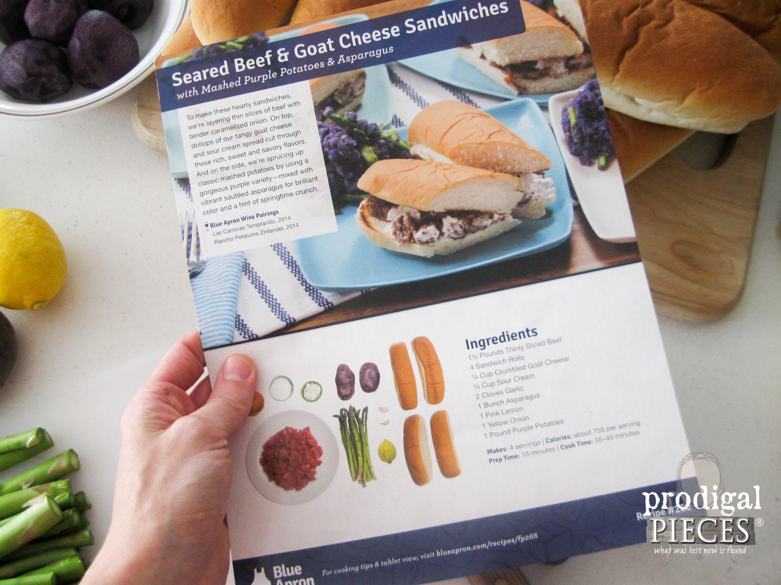 Blue Apron Recipe Card | Prodigal Pieces | www.prodigalpieces.com