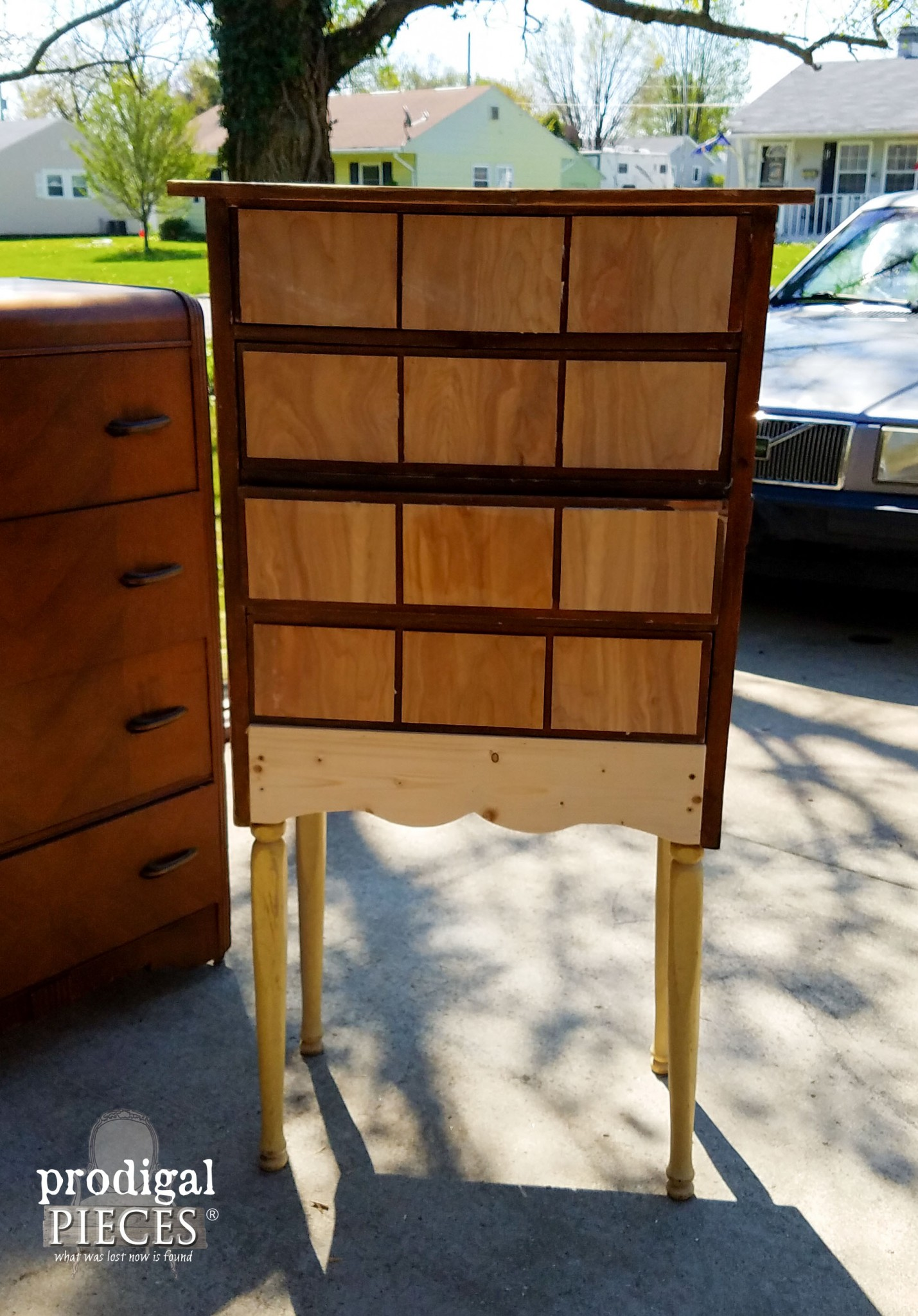 Repurposed Child's Dresser as Card Catalog Before Paint | Prodigal Pieces | www.prodigalpieces.com