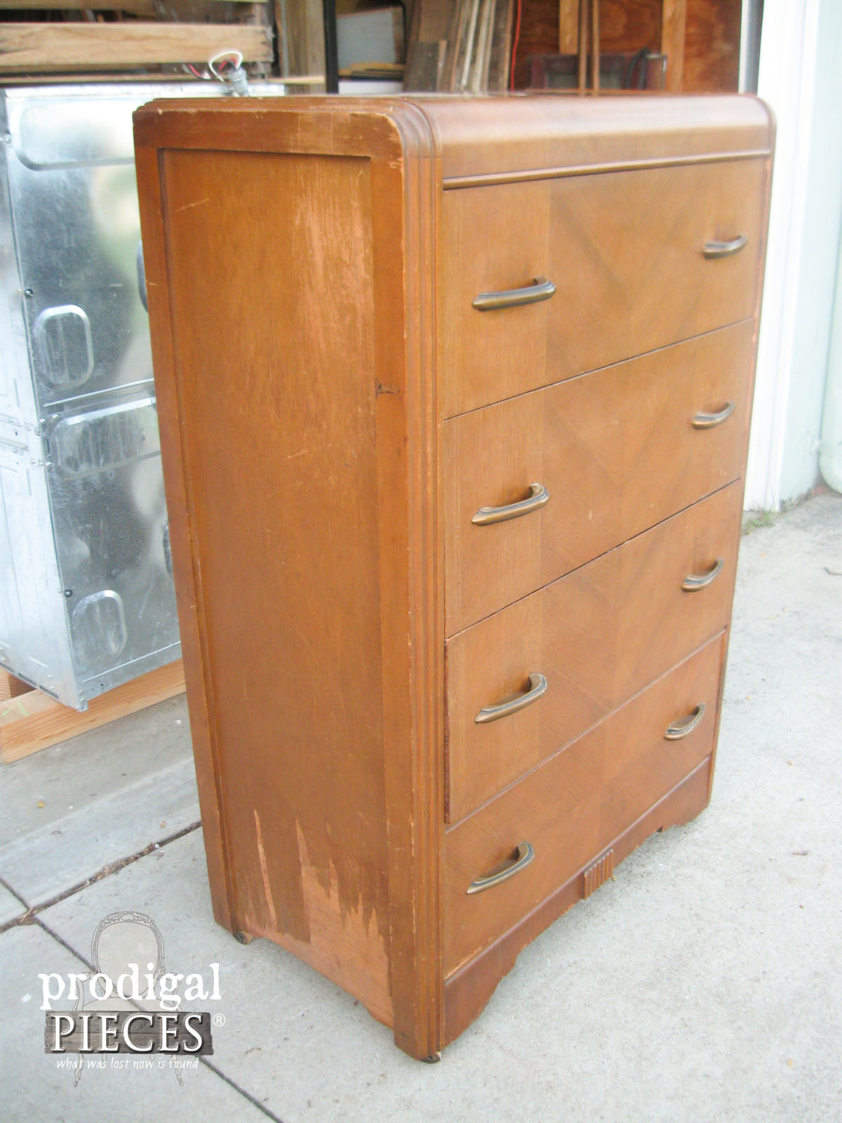 Right Side of Art Deco Chest of Drawers | Prodigal Pieces | www.prodigalpieces.com