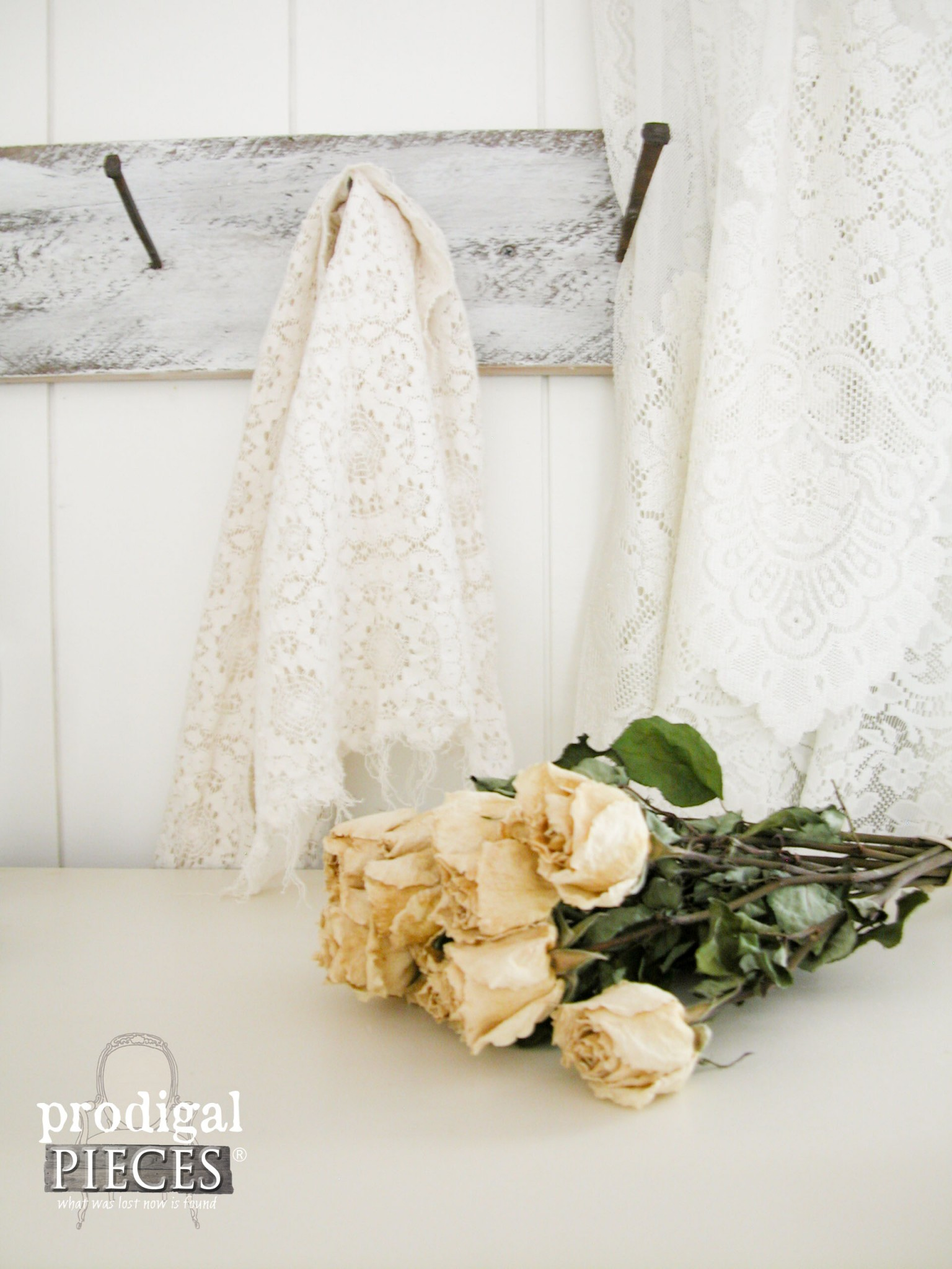 Old Roses and Lace in Shabby Chic Style by Prodigal Pieces | www.prodigalpieces.com