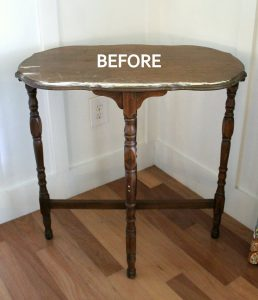 Vintage Side Table Makeover Artsy Chicks Rule via Prodigal Pieces