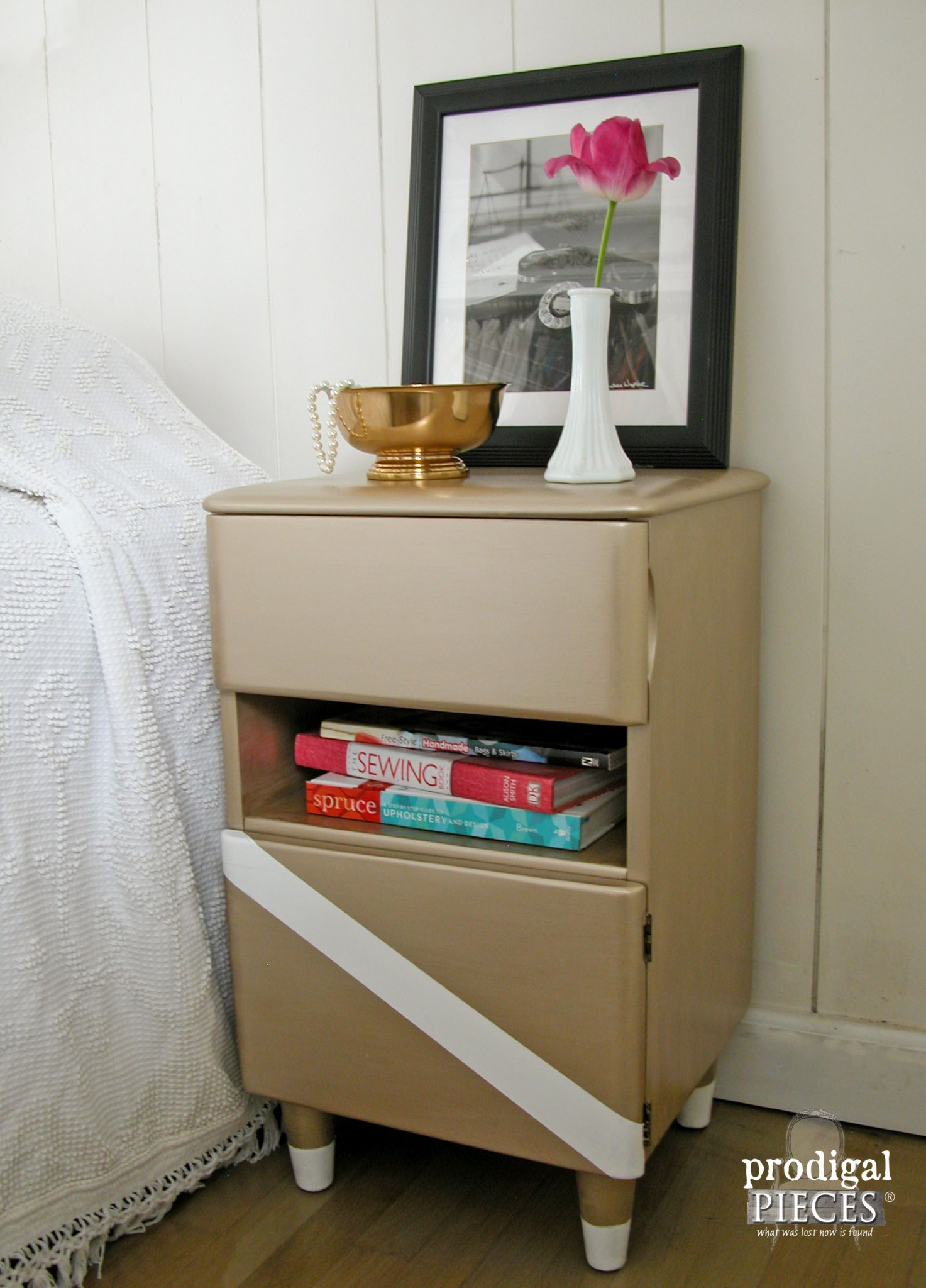 Vintage Art Deco Nightstand with New Modern Look by Prodigal Pieces | www.prodigalpieces.com