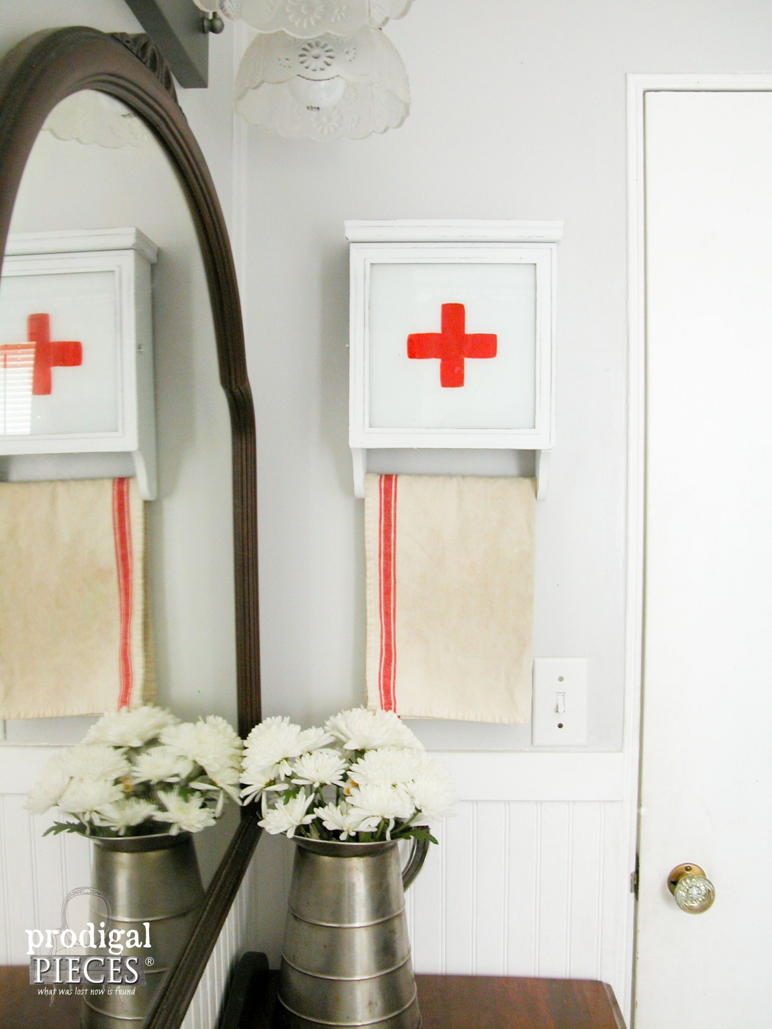 Vintage Wall Clock turned into Swiss Medical Kit by Prodigal Pieces | www.prodigalpieces.com