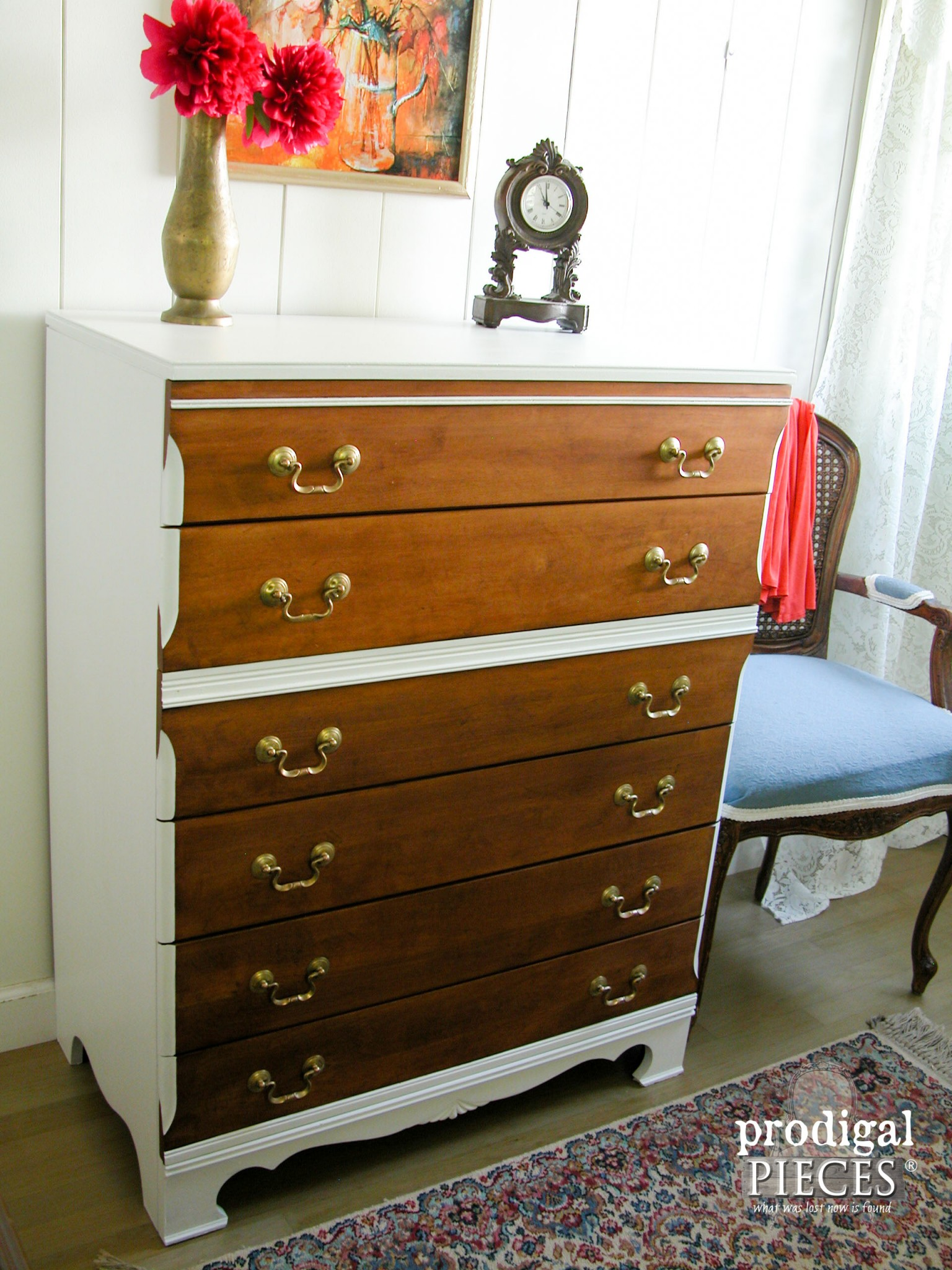 Sleek Mid Century Modern Chest with Boho Flair by Prodigal Pieces | www.prodigalpieces.com