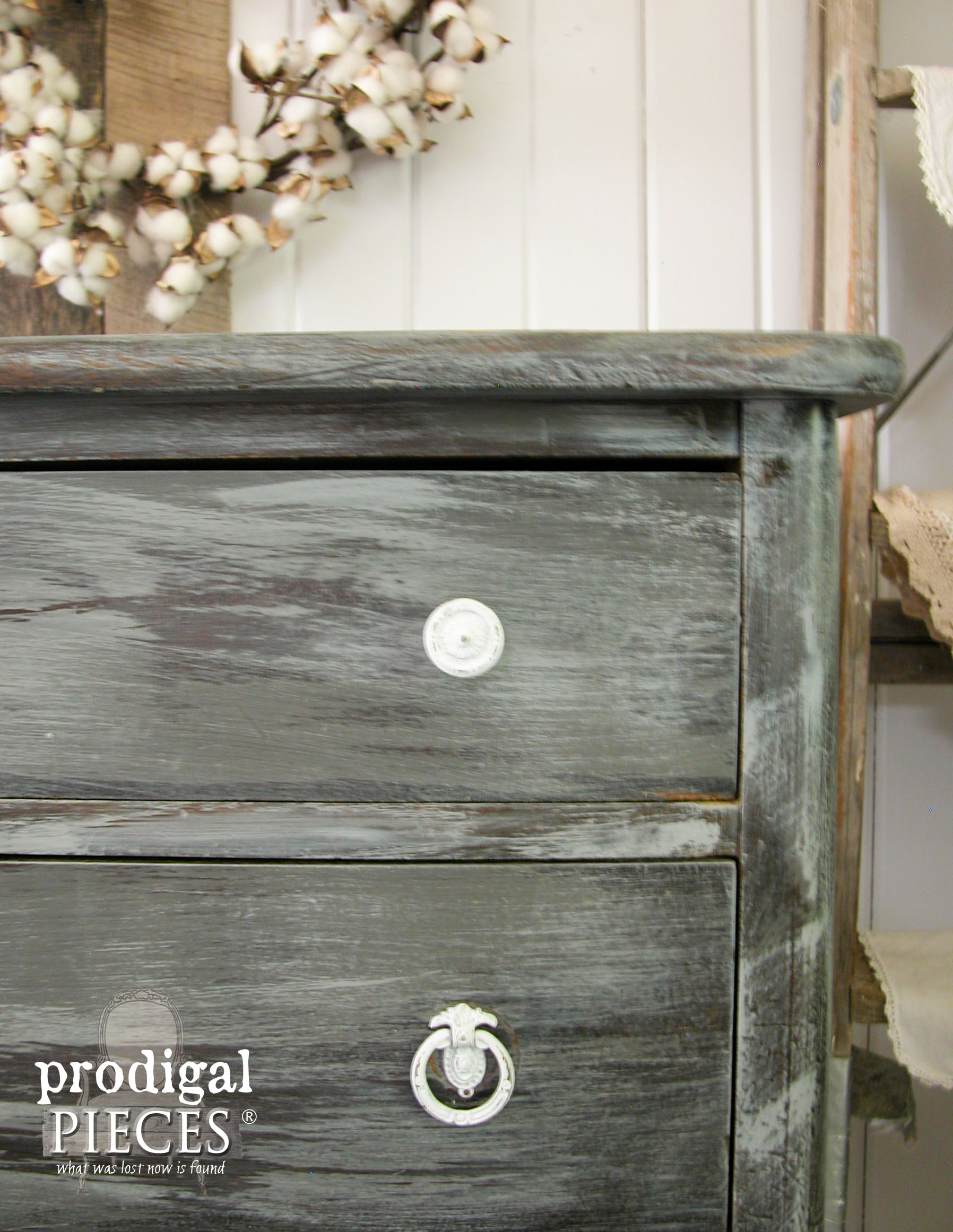 Rustic Farmhouse Style Wet Distress Method by Prodigal Pieces | www.prodigalpieces.com