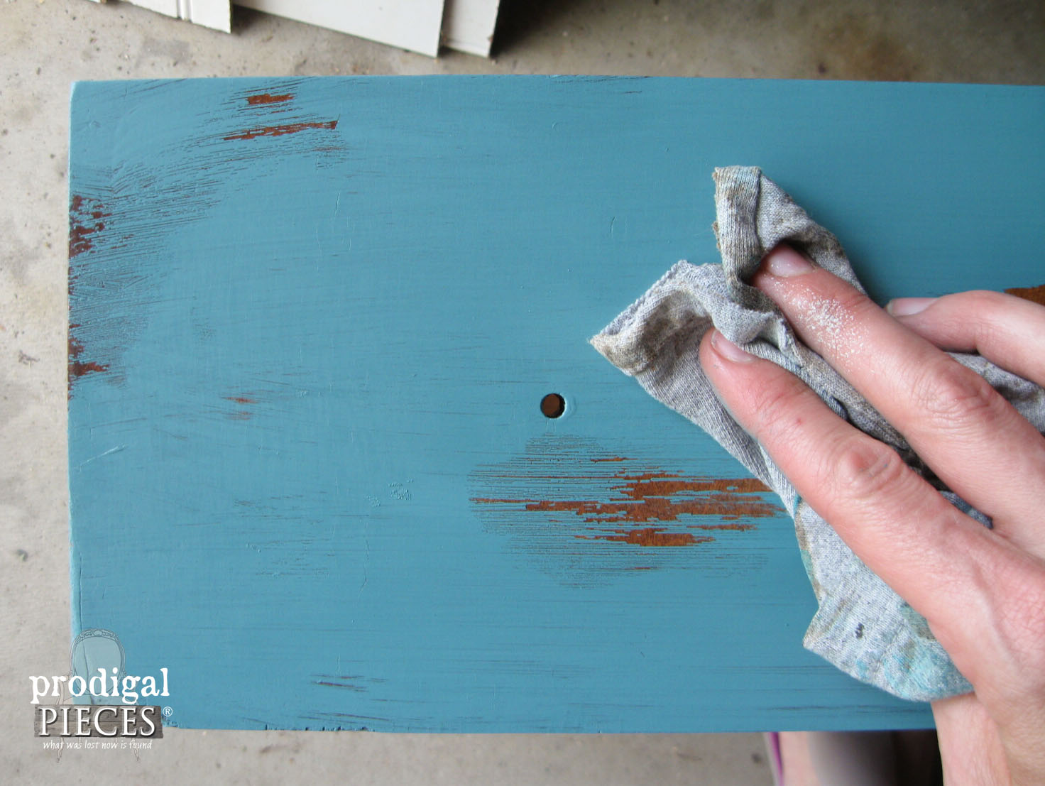 Distressing Paint with Petroleum Jelly | Prodigal Pieces | www.prodigalpieces.com
