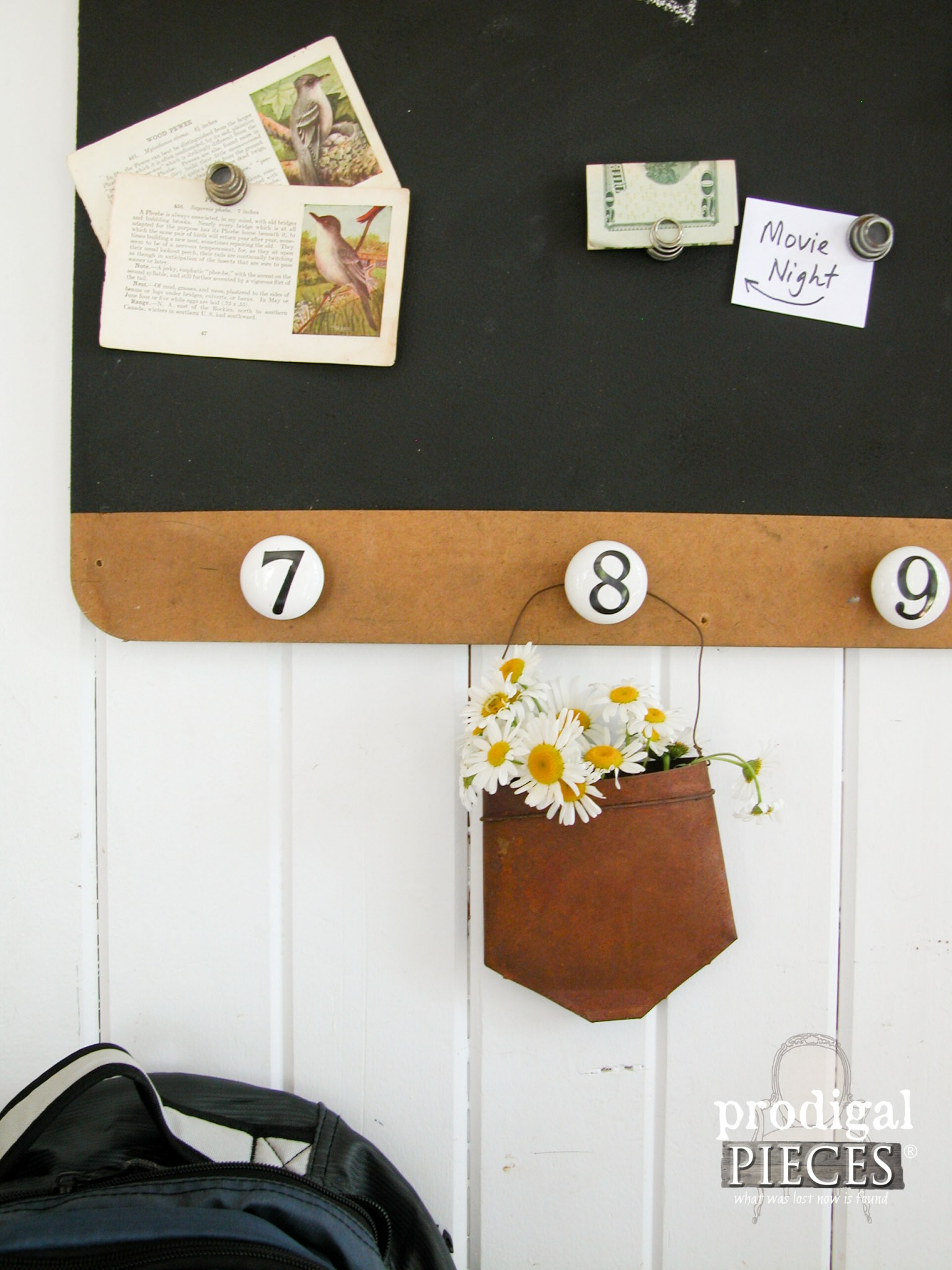 Upcycled Trash to Magnetic Message Board by Prodigal Pieces | www.prodigalpieces.com