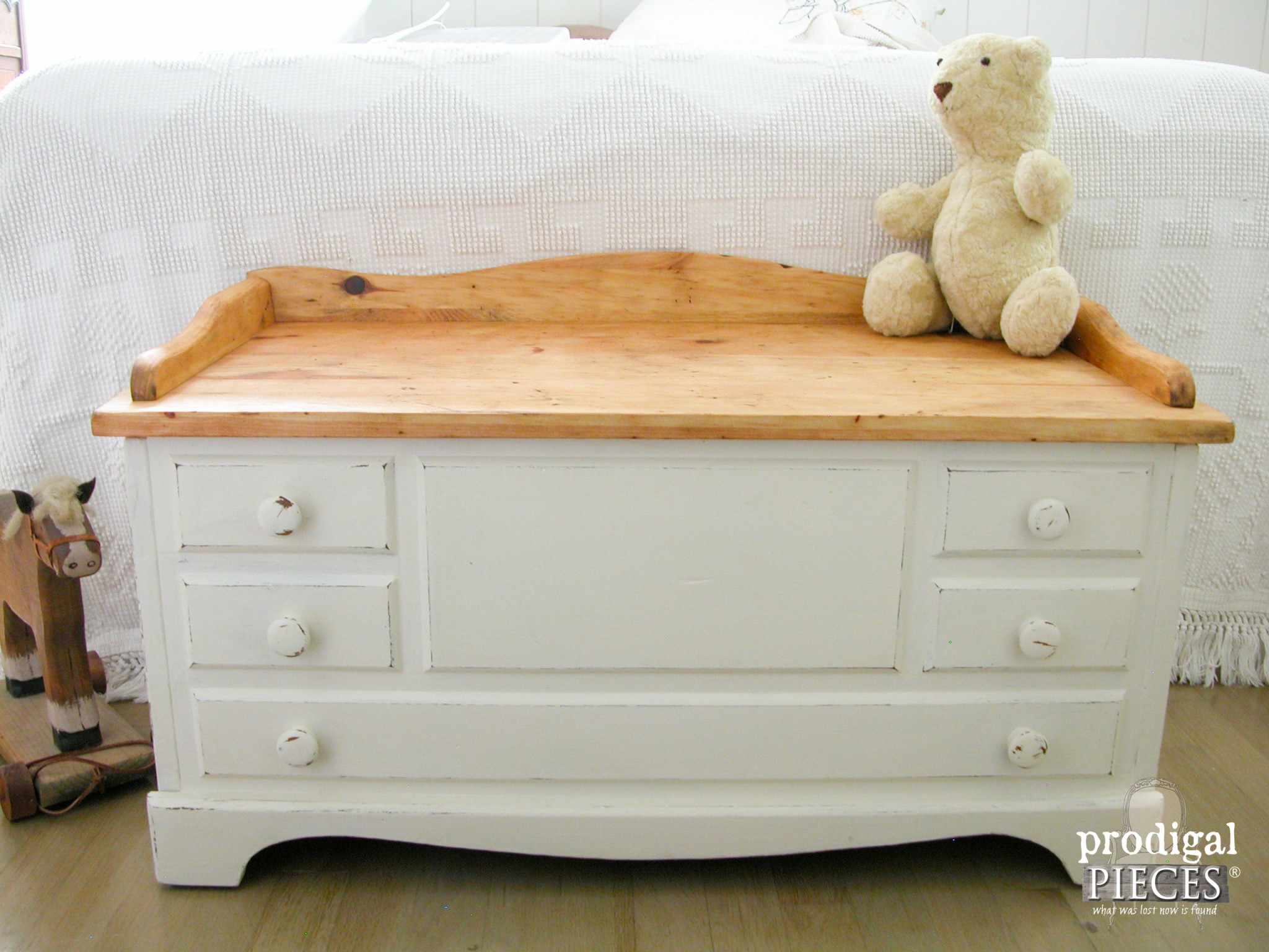 Rustic Child's Wooden Chest by Prodigal Pieces | www.prodigalpieces.com