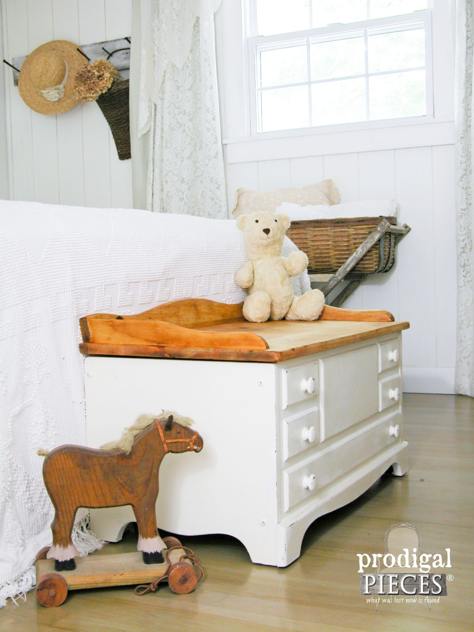 Farmhouse Chic Child's Wooden Chest by Prodigal Pieces | www.prodigalpieces.com
