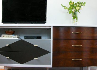 Featured Mid Century Modern Entertainment Console by Prodigal Pieces   www.prodigalpieces.com