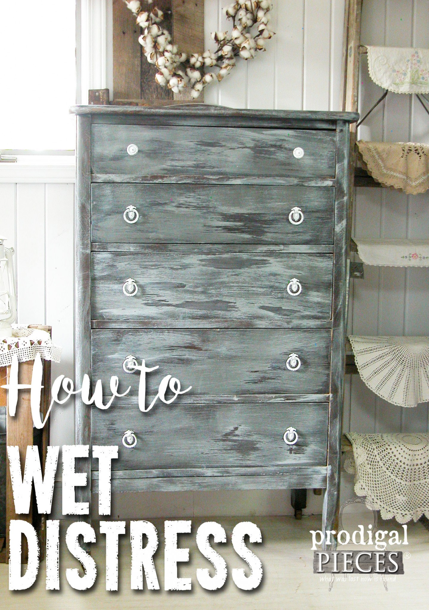 How to Wet Distress Paint with Tutorial by Prodigal Pieces | prodigalpieces.com