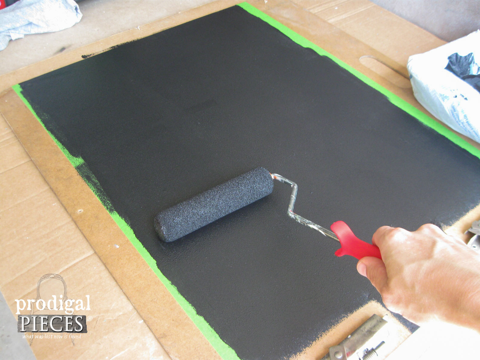 Applying Rust-Oleum Magnetic Primer to Message Board | Prodigal Pieces | www.prodigalpieces.com