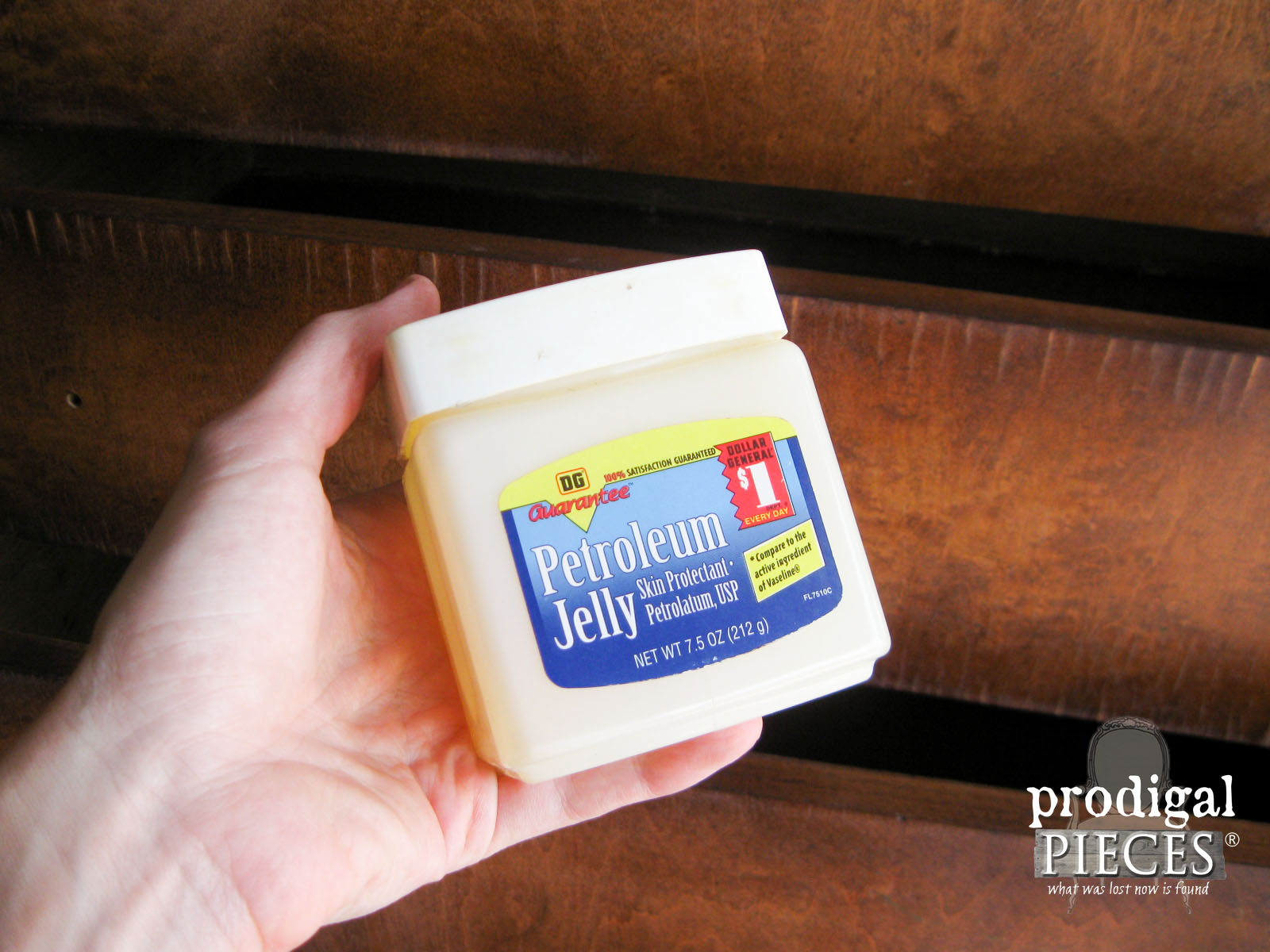 Using Petroleum Jelly to Distress Paint by Prodigal Pieces | www.prodigalpieces.com