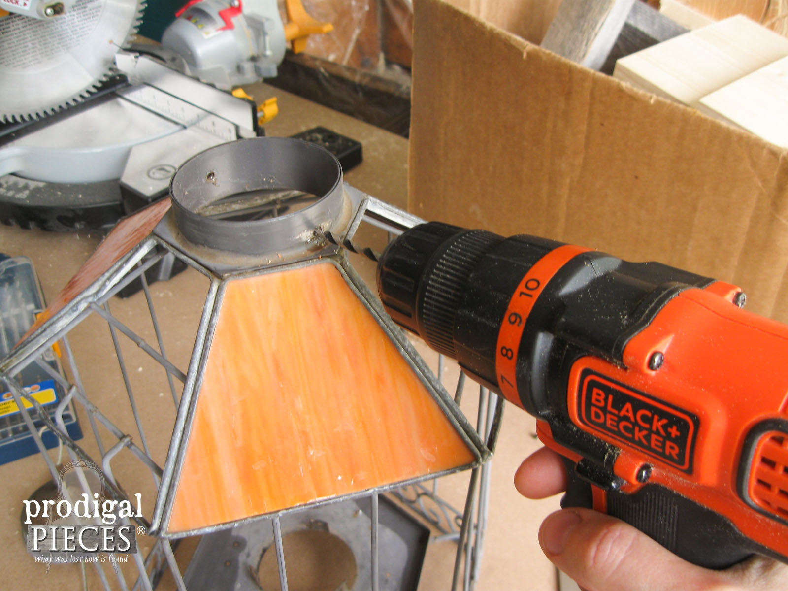 Using Cordless Drill to Repair Broken Bird Feeder | Prodigal Pieces | www.prodigalpieces.com