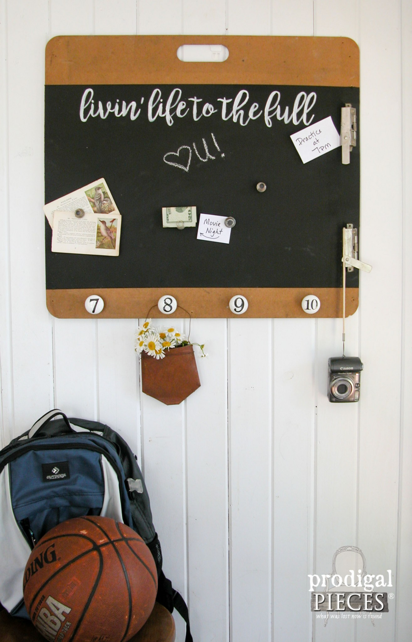 Repurposed Artist's Clipboard to Magentic Message Board by Prodigal Pieces | www.prodigalpieces.com