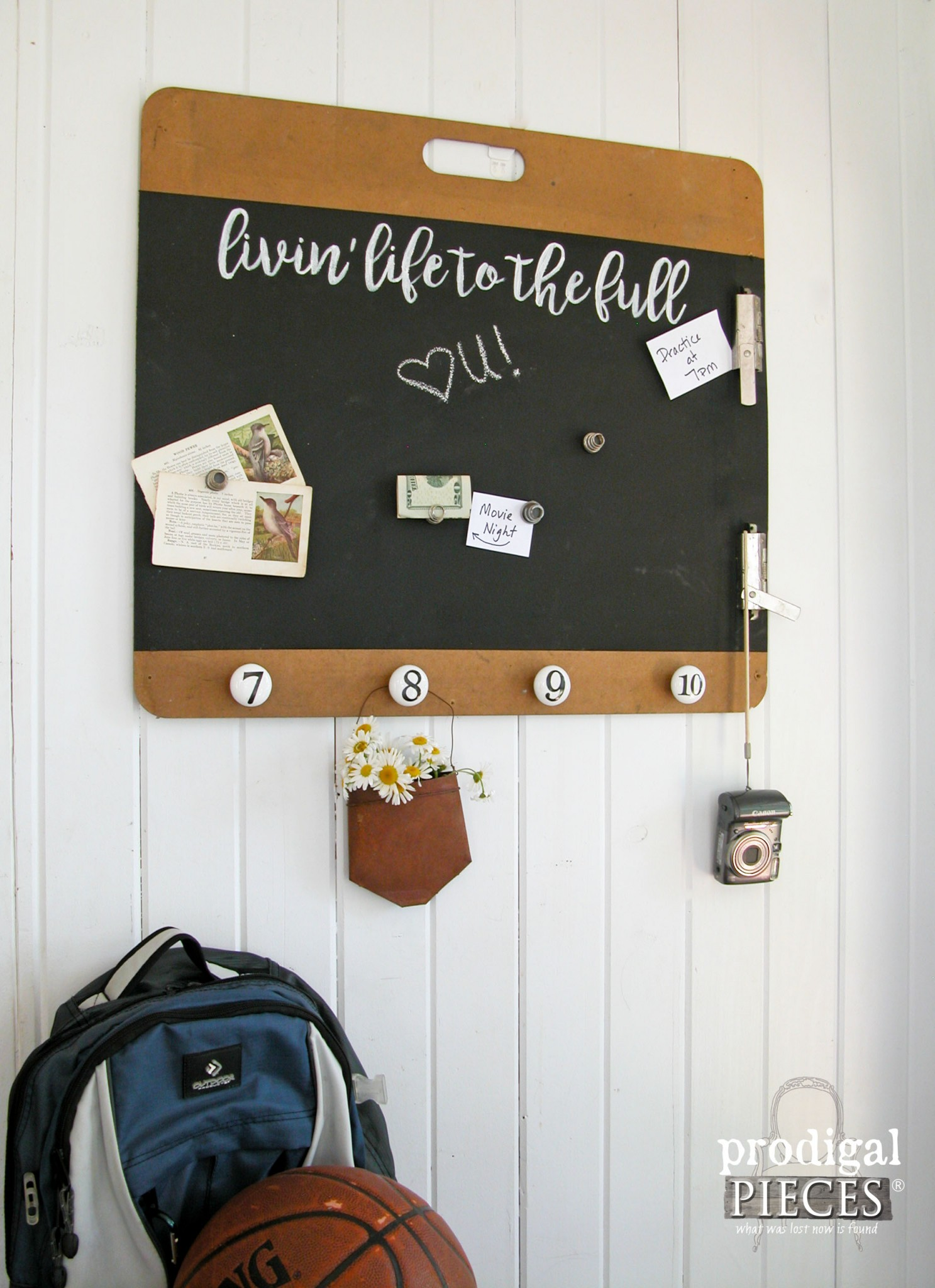 Vintage Fun Magnetic Message Board Upcycled by Prodigal Pieces | www.prodigalpieces.com